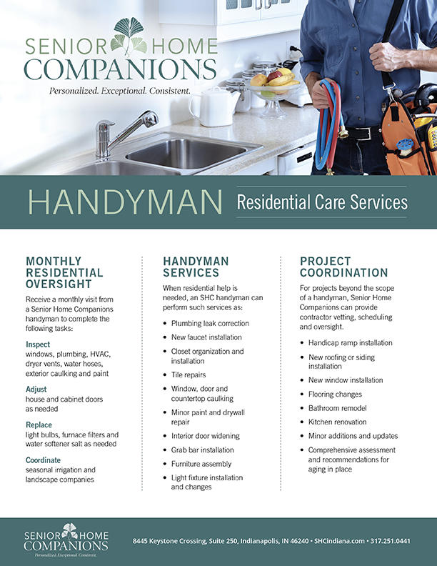 Handyman Flyer Senior Home Companions