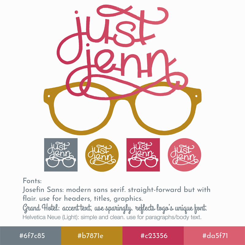 Just Jenn Branding Logo Design Indiana